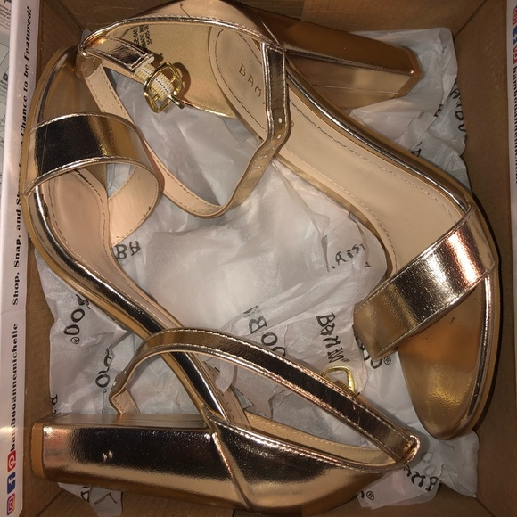 BAMBOO Shoes - Gold Heels